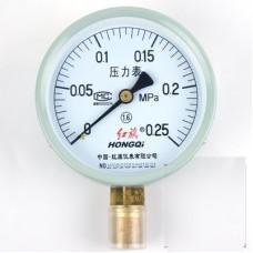 HONGQI Y-100 Pressure gauge 0 - 0.25Mpa