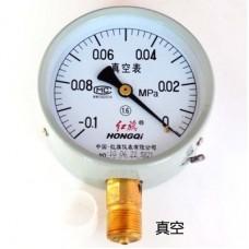 HONGQI Y-60 Pressure gauge -0.1 - 0 Mpa